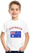 Kinder t-shirt vlag Australia Xs (110-116)