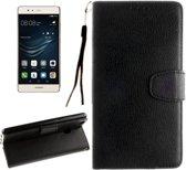 Huawei Ascend P9 Lite - Flip hoes, cover, case - PU leder - TPU - Zwart