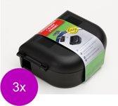 Luxan Muizenbox Met Klem - Ongediertebestrijding - 3 x Zwart