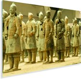 Aziatische Terracotta strijders in de Chinese stad Xi'an Plexiglas 120x80 cm - Foto print op Glas (Plexiglas wanddecoratie)