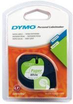 Dymo Lettertape Papier - Zwart/Wit - 12 mm x 4m - Tape