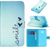 iCarer Smile print wallet case hoesje Microsoft Lumia 650