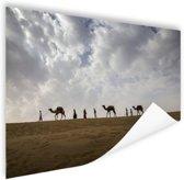 Woestijn India  Poster 150x75 cm - Foto print op Poster (wanddecoratie woonkamer / slaapkamer)