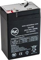 AJC® battery compatibel met Union MX-06040 6V 4.5Ah Lood zuur accu