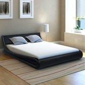 vidaXL Bed met matras kunstleer 140x200 cm Krul zwart