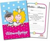 Uitnodigingen ridders en prinsessenfeestje, set van 10 stuks