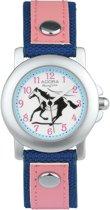 Meisjes horloge blauw en roos van het merk Adora AY4300
