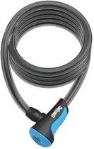 Onguard Kabelslot Coil Neon 180 Cm X 12 Mm Zwart/blauw