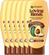 Garnier Loving Blends - Conditioner - Avocado Olie & Karité boter - 6 x 250 ml - Droog of Pluizig Haar - Voordeelverpakking Unisex