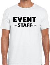 Event staff tekst t-shirt wit heren - evenementen crew / personeel shirt XL