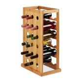 relaxdays wijnrek hout - 18 flessen - flessenrek - wijnflessenrek - flessenhouder - keuken