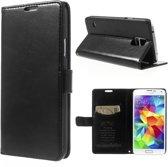 KDS Smooth wallet case hoesje Samsung Galaxy S5 mini zwart