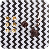 MixMamas Tafelkleed Zigzag - 2,50m x 1,20m - Zwart/Wit