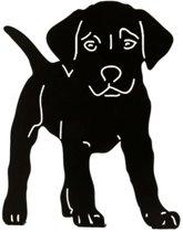 Silhouet puppy hond - decoratief