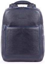 Piquadro Blue Square S Matte Fast Check Computer 15.6 Backpack Blue