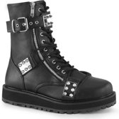 Demonia Enkellaars -39 Shoes- VALOR-280 Zwart