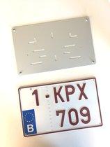 Nummerplaathouder 4X4 ALU voor nummerplaat 340x210mm BELGIË