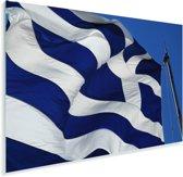 Griekse vlag op Akropolis Plexiglas 90x60 cm - Foto print op Glas (Plexiglas wanddecoratie)