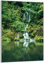 Plexiglas –Waterval in de Jungle– 40x60cm (Wanddecoratie op Plexiglas)