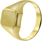 Lucardi Ringen - 14 Karaat geelgouden ring zeskant