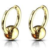 Oorbellen Captive Ball action ringen gold plated ©LMPiercings