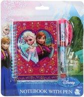 Frozen notitieboekje + pen