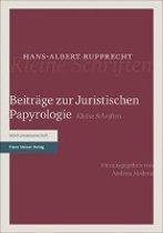 Beitrage Zur Juristischen Papyrologie