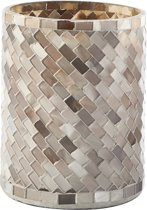 Rivièra Maison Magic Mosaic Hurricane brown - S - Windlicht - Glas - Bruin