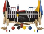 Junior Executive Croquet Set - 12 mm dikke Stalen Poorten - ECO Hardhout