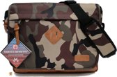 ENRICO BENETTI Camouflage Messenger Bag Omhang Schoudertas Fashion Tas Groot A4 School Werk