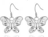 Charme Bijoux® Zilver vlinder oorbellen- hanger 17 mmi filigraan