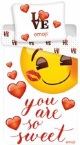 Emoji dekbedovertrek - 140x200 cm - 100% katoen