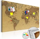 Afbeelding op kurk - Oude wereldkaart