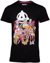 Rage Heren Tshirt -2XL- The Squad Zwart