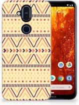 Nokia 8.1 Uniek TPU Hoesje Aztec Yellow