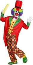 Clown & Nar Kostuum | Clown Luxe Multicolour Kostuum Man | Large | Carnaval kostuum | Verkleedkleding