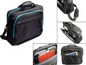 """""""Luxe Laptoptas 15.6 inch (15-16 inch) met audio/laadkabel-doorgang, zwart , merk i12Cover"""""""
