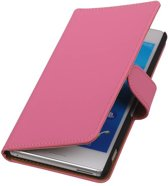 Wicked Narwal | bookstyle / book case/ wallet case Hoes voor sony Xperia M4 Aqua Roze