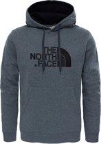 The North Face Drew Peak Heren Outdoortrui - TNF Medium Grey Heather/TNF Black - Maat XXL