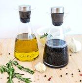 Olie- en Azijn fles, set