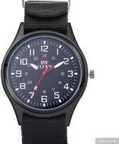Horloge- Soxy- Zwart- 4 cm