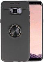Softcase voor Galaxy S8 Plus Hoesje met Ring Houder Zwart