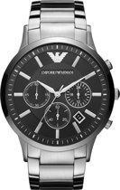 Emporio Armani AR2460 - Horloge - Staal - Zilverkleurig - Ø 46 mm