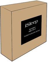 iSleep Dubbel Jersey Hoeslaken - Litsjumeaux XL - 190x210/220 cm - Zand
