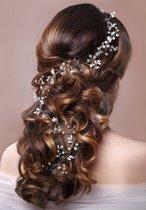 Haarband bruidsmode gala zilverkleurig