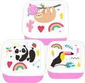 Blueprint Collections Snackbox-set Happy Zoo 3-delig