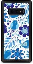 Galaxy S10e Hardcase hoesje Blue Bird and Flowers