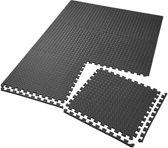 TecTake - Set van 6 beschermingsmatten zwart - 2,3 m2 - 402653