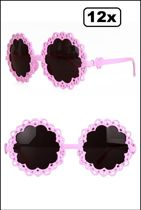 12x Bril Flower Power pink