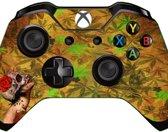Xbox One Controller Skin Sticker - Vintage Marijuana and Tatoo Smoking Skull Girl